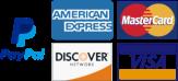 paypal, mastercard and visa logos