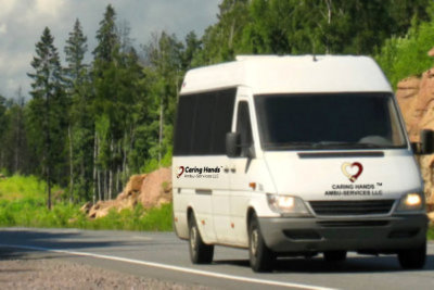 running white van on the road